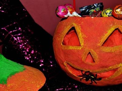 DIY : Calabaza Halloween Papel Maché - Brotes De Creatividad
