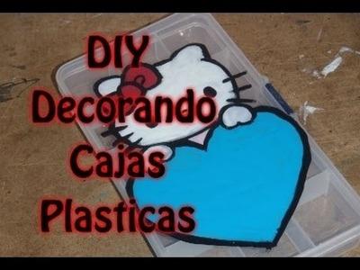 DIY Como decorar cajas plasticas