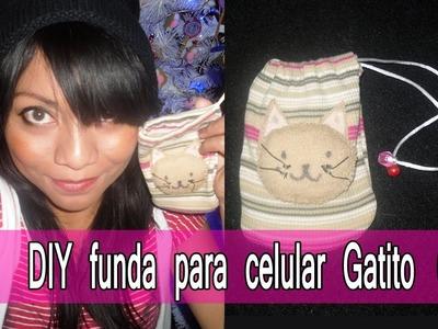 ♥ DIY ♥ Funda para teléfono celular kawaii ♥ Gatito ♥