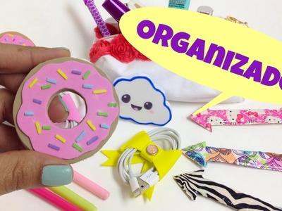Ideas para organizar,manualidades faciles,organizador para cables(audifonos)