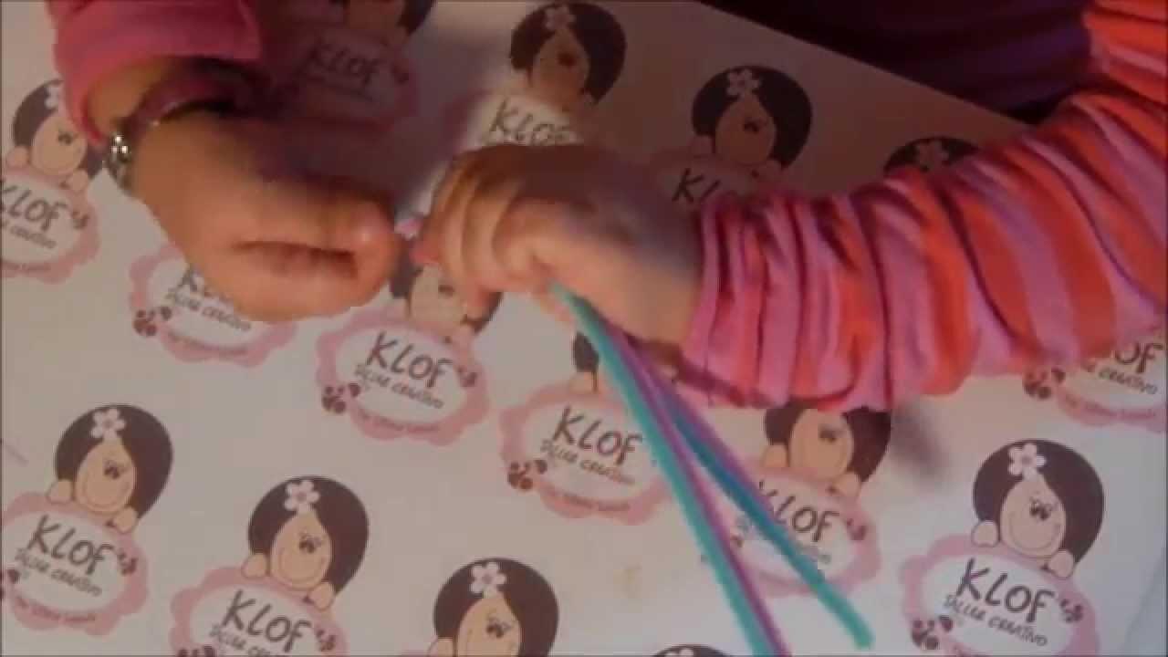 KLOF - COMO HACER UN ANILLO FLOR CON CHELINES - LIMPIAPIPAS