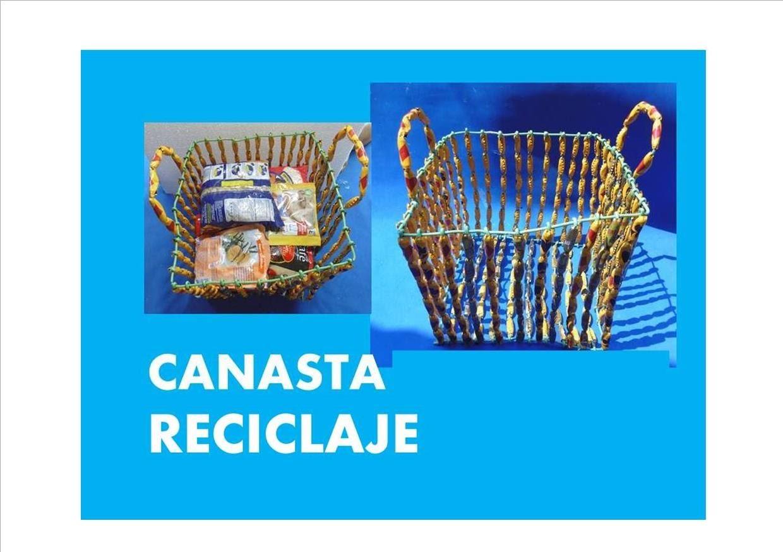 MANUALIDADES - Como hacer canasta de reciclaje