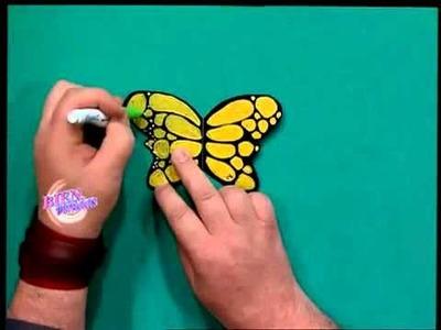 Mariposas para adornar el arbolito de Navidad