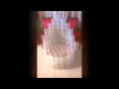 Sillas recicladas con botellas