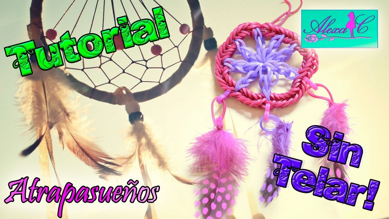 49cb8b97cd02 ♥ Tutorial: Atrapasueños de gomitas (sin telar) ♥