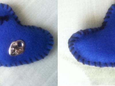 Tutorial de como hacer un llavero en forma de corazón o de cualquier diseño hecho de tela.