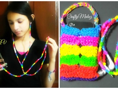 Tutorial:♥ DECORA TUS AUDIFONOS CON GOMITAS. LIGAS♥
