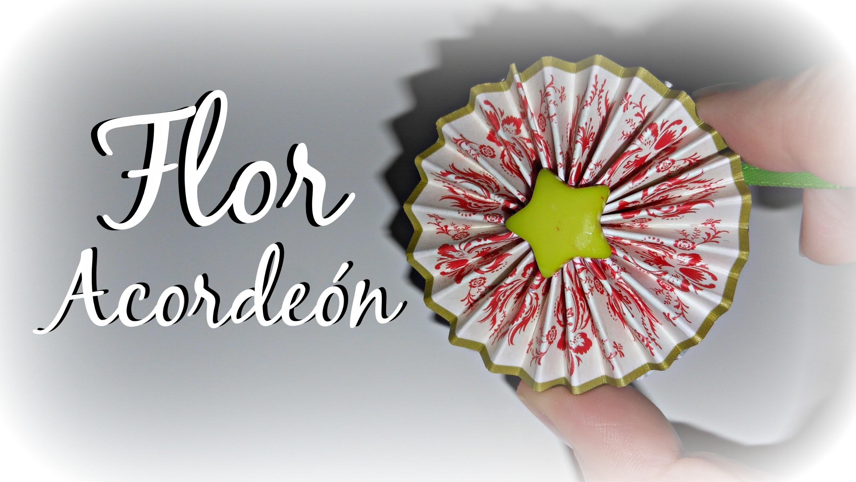 Tutorial: Flor Acordeón (MUY FÁCIL) | Decoración Scrapbook | Mundo@Party
