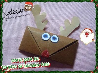 @xoOlexiitOo ☃DIY: Sobres para Cartas o Tarjetas de Navidad: Reno❄