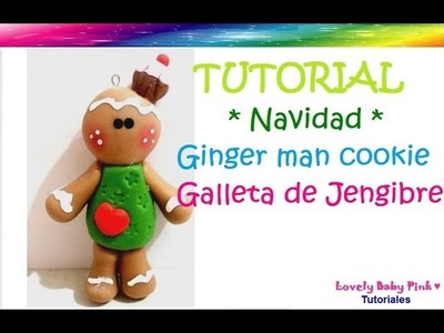 Adornos navideños- Galleta navideña - How to make gingerbread man cookie