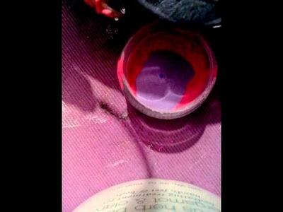 Como hacer acrílico color vino o guinda