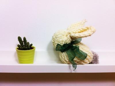 Cómo hacer un conejo de Pascua a partir de un telar circular (Tutorial DIY)