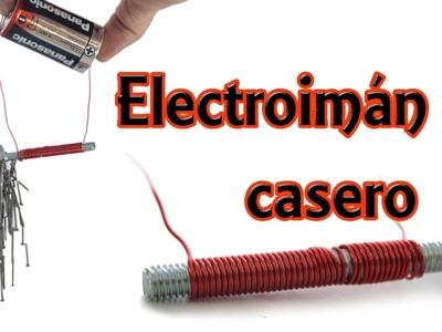 Cómo hacer un electroimán casero (Experimentos Caseros)