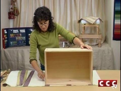 Cómo revestir con un tapiz una caja