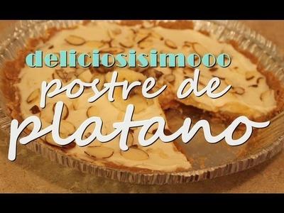 Deliciosisisimo postre de platano♥ (sin hornear)
