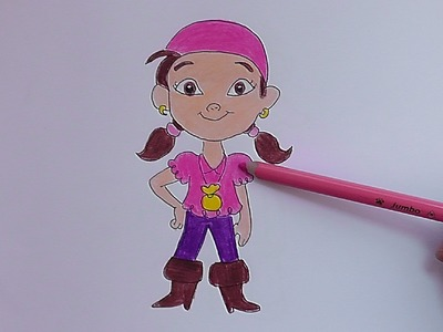 Dibujando a Izzy (Jake y los piratas de nunca jamas) - Drawing Izzy