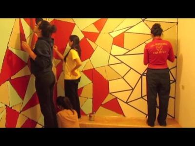 Diseño en Muro con Pintura