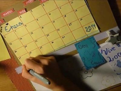 DIY:  Calendario de cartón. Crea un organizador de tareas
