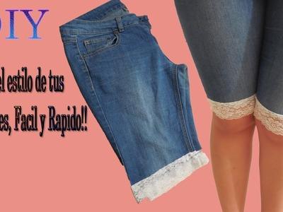 ♥DIY Cambia el estilo de tus pantalones Facil y Rapido ! ♥ ♥