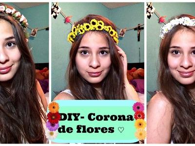 DIY - Corona de Flores + 1 año en Youtube ♡♡