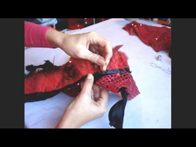 DIY Traje plumas danza oriental   Belly dance feather costume
