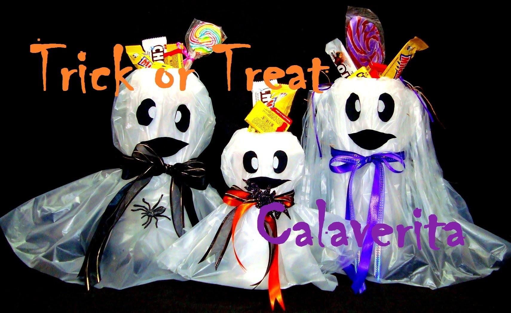 DULCEROS DE FANTASMAS   HALLOWEEN.TRICK OR TREAT   DIY   DIA DE MUERTOS.CALAVERITA - YuureYCrafts