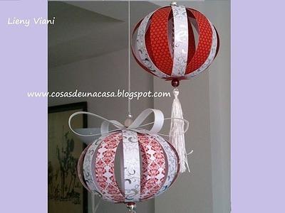 Esferas para Navidad con Papelería Creativa