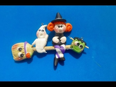 FIGURAS FACILES HALLOWEEN  - Witch Ghost cold porcelain