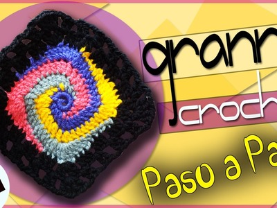 GRANNY #1 - Tejido a Crochet  ( Para Mantas, Bolsos, Cobijas, Chal )