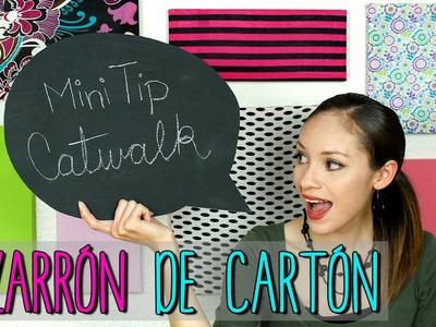 Mini Tip #33 - Pizarrón Casero de Cartón - Pizarra Ecológica - Decora tu cuarto