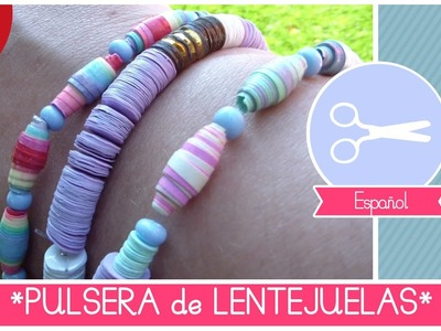 Moda Verano Trendy: PULSERA DE LENTEJUELAS - tutorial manualidad facil