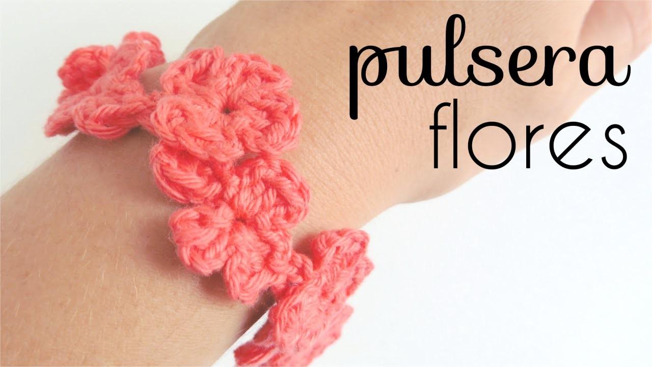 Pulsera de Flores a Crochet - PASO A PASO