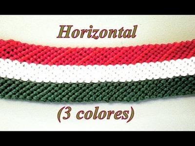 Pulsera de Hilo: Horizontal Tres Colores