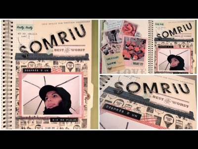 Smash Book Terapia: 29.04.13 *Cómo hacer un diario de Scrap* Smash book tutorial