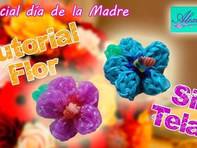 ♥ Tutorial: Flor de gomitas.ligas (sin telar) especial DIA DE LA MADRE  ♥