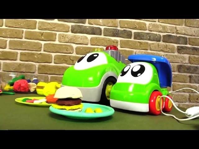 Vídeos de plastilina - Hamburguesa de plastilina - Juegos de cocina