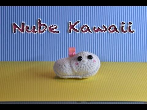 Amigurumi de una nube kawaii