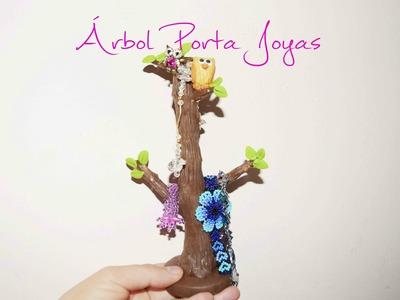 Árbol Porta Joyas porcelana fria - Manualidades Faciles Plastilina