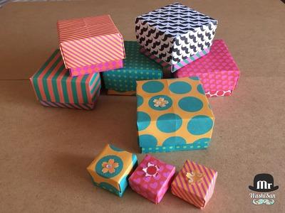 Cajas de origami de papel decorado