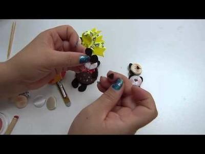 Carita  de  osos para decorar manualidades , accesorios para el cabello