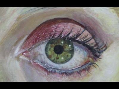 Cómo pintar un ojo realista con acrílico paso a paso - Explicado