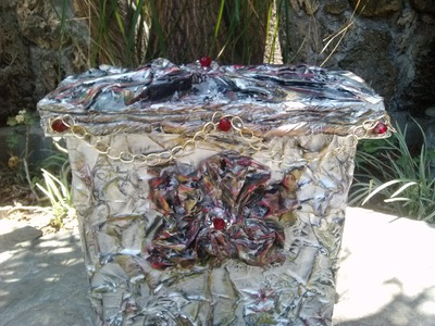 Como hacer Cesto con  cartón y periódico. Cardboard Basket
