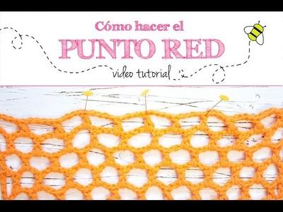 Como hacer el punto red o malla nido de abeja en ganchillo | Net crochet stitch