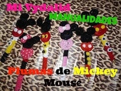 Como hacer plumas de Mickey Mouse- DIY (Mi Vydalid)