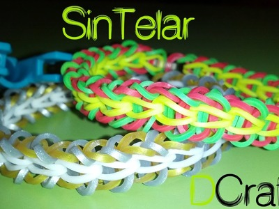 COMO HACER PULSERA TRIBAL FISHTAIL SIN TELAR CON MINI RAINBOW LOOM PINZA ETC. MANUALIDADES DIY