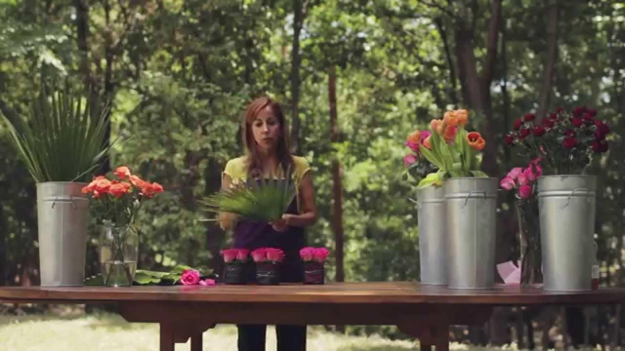 Como hacer un Centro de Mesa La Violetera Floreria y Cursos de diseño Floral