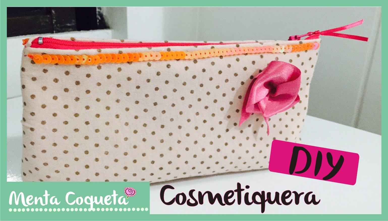 Cómo hacer una cosmetiquera de tela. DIY