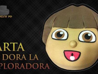 Como hacer una tarta de Dora la Exploradora con fondant