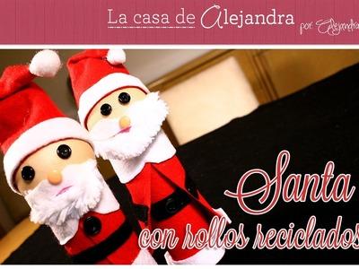 Como Reciclar unos Rollos y Hacer un Lindo Santa para Navidad DIY Alejandra Coghlan