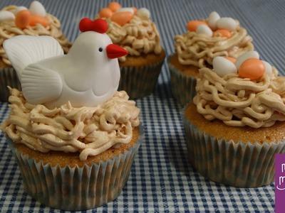 Cupcakes de dulce de leche decorados con fondant